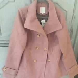 Beautiful blush coat BWT XL fits like a Large